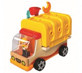 Holz-Multiauto mit Werkzeug, Holzspielzeug