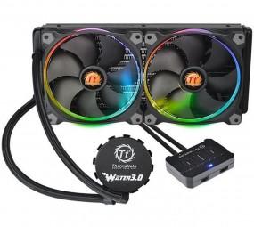 Thermaltake Water 3.0 Riing RGB 280, Wasserkühlung (schwarz, RGB beleuchtet)
