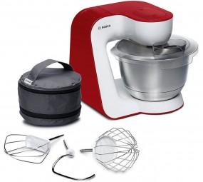 Bosch MUM54R00 weiß/rot, Küchenmaschine mit Zubehör (900 W)