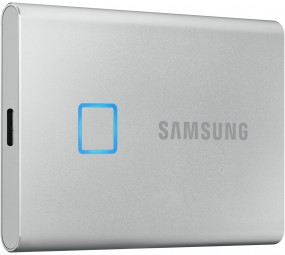 Samsung Portable SSD T7 Touch MU-PC2T0S/WW, 2 TB Silber, Externe SSD