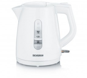 Severin WK 3411, Wasserkocher (weiß 1,0 Liter)